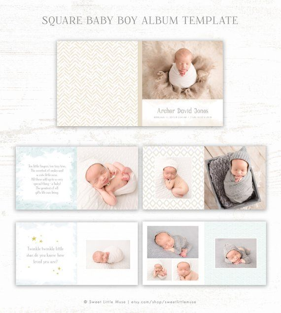 Baby Album Template For Photographers Baby Boy Photo Book Template