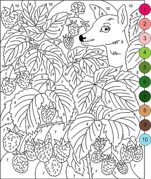 Раскраски по номерам для детей | Раскраски, Раскраска по ...