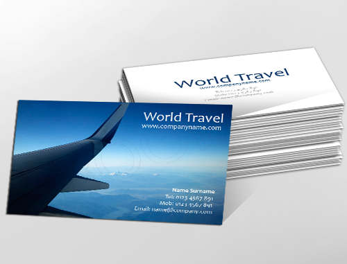 Contemporary business card design ideal for travel agencies contemporary business card design ideal for travel agencies customise a range of business card fbccfo Images