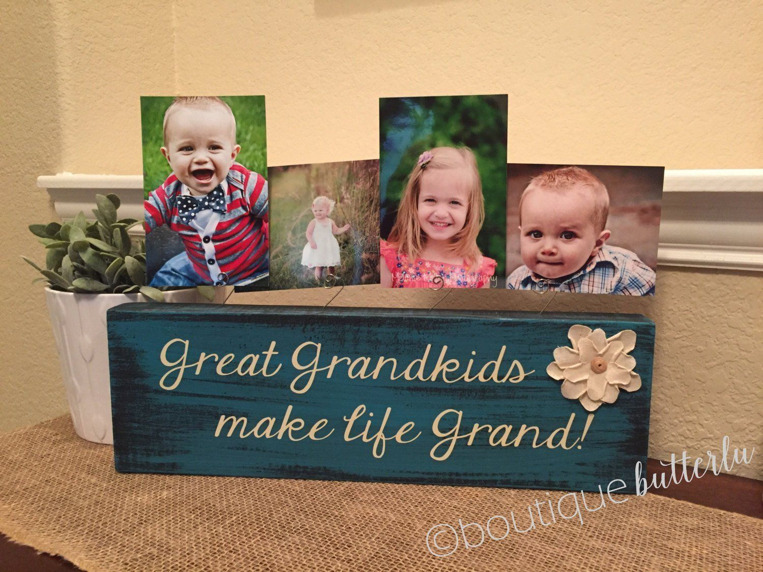 Grandkids make life grand Personalized picture frame gift for ...