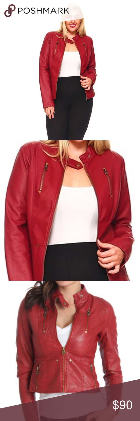 NWT Plus Size Vegan Leather Moto Jacket Size 1X Vegan
