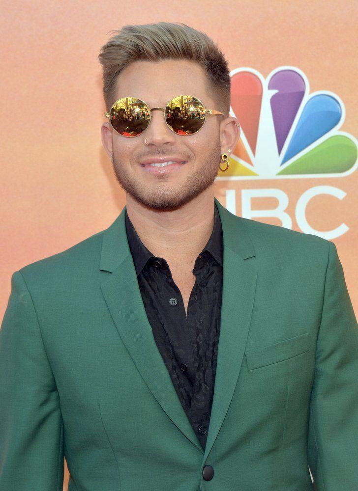 Adam Lambert Dresses Up Shows Off Bleached Blonde Hair At