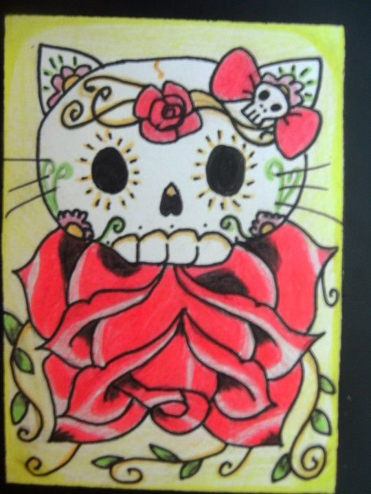 Hello Kitty Sugar Skull By Craftrenegade D4akhh6 540x720