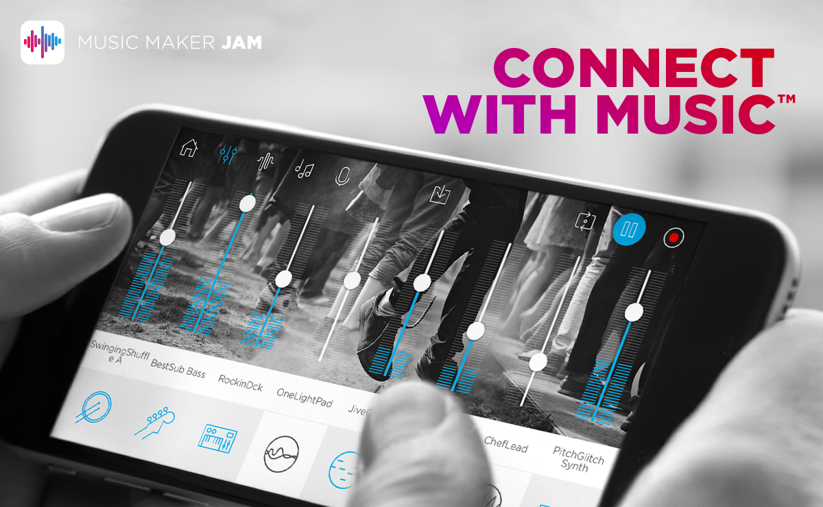 Music Maker Jam is a free app for iOS, Android and Windows