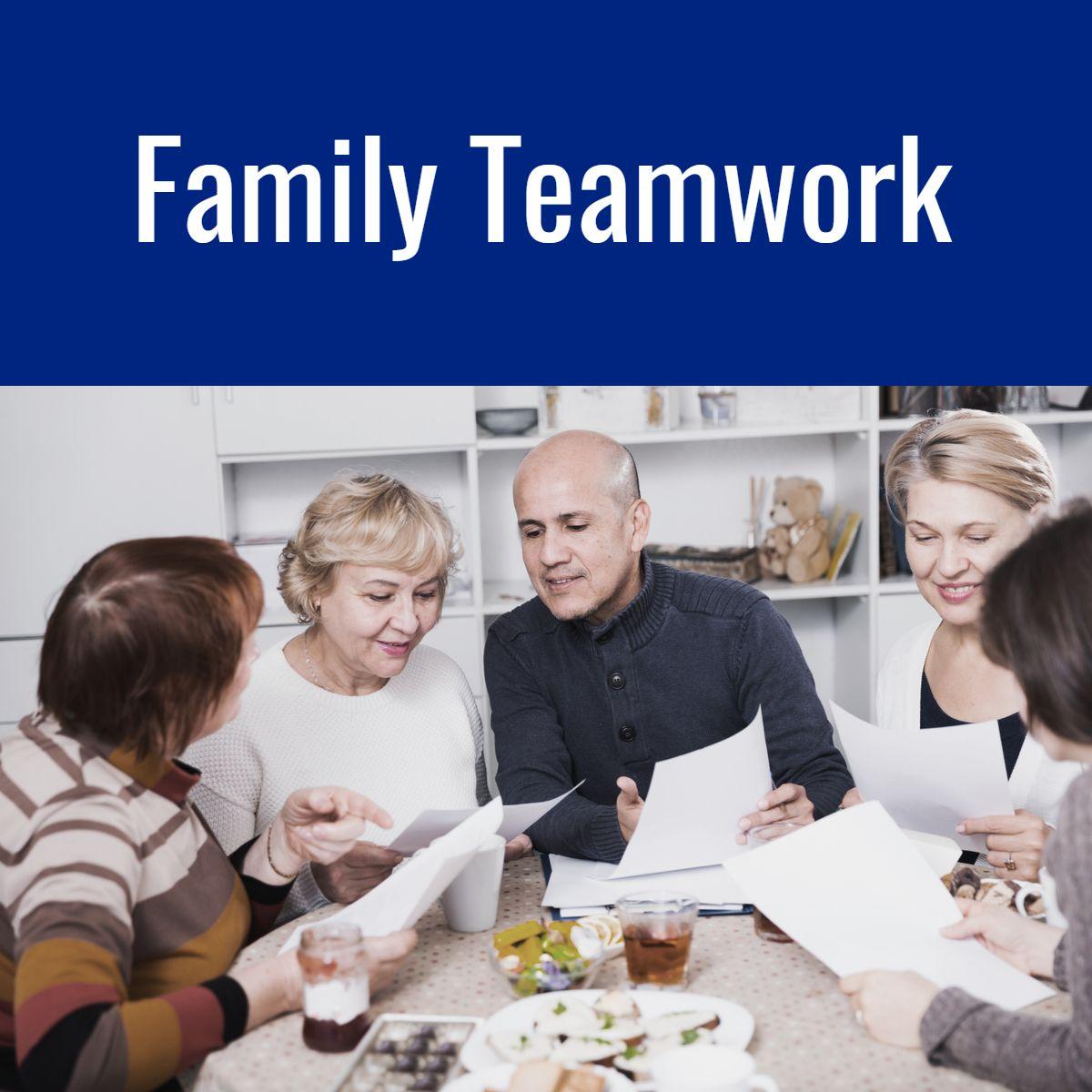 Family teamwork health services caregiver teamwork