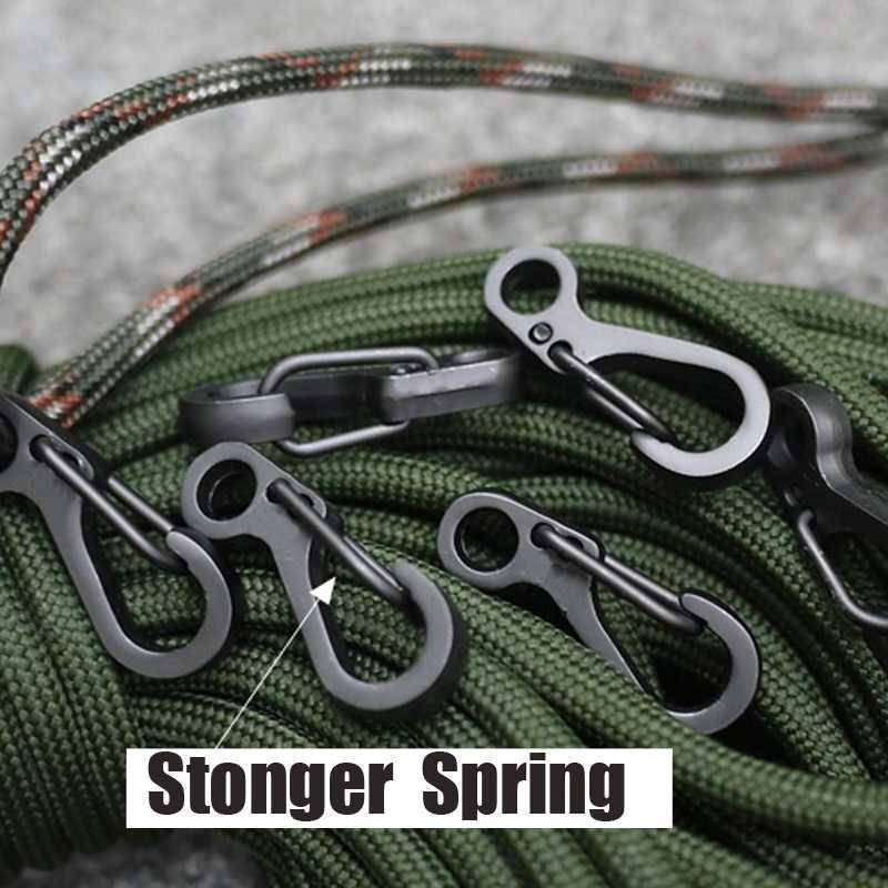 5x Mini sf carabiner climbing spring clasps edc keychain bottle hooks engagLDU