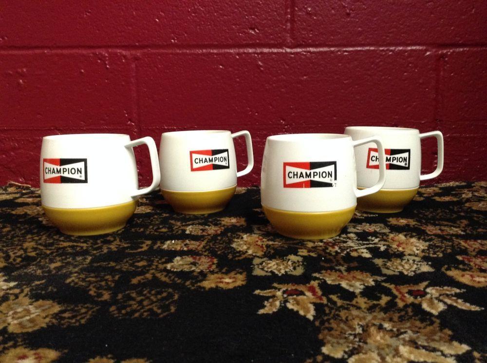 CHAMPION sparkplug Plastic Coffee cup SET OF 4