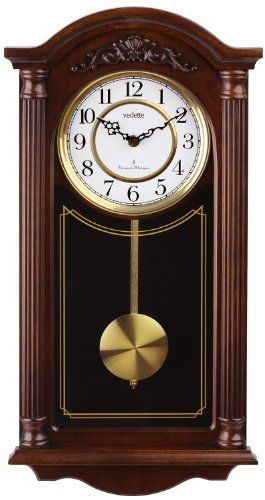 9f009b2dad63 Vedette VP60001 – Reloj de pared analógico de pendulo de cuarzo – madera