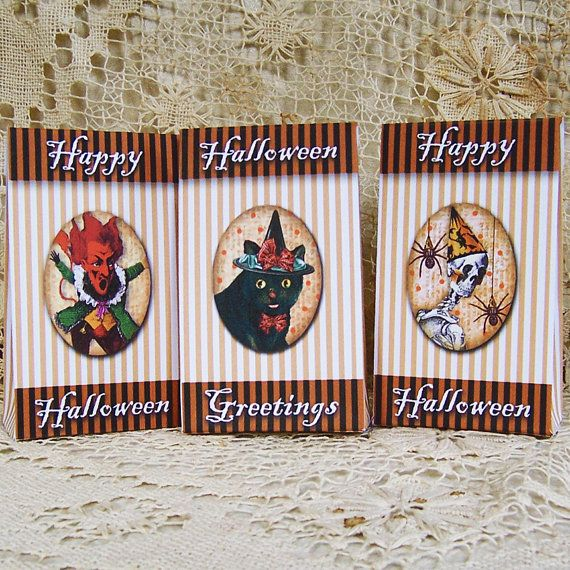 Halloween Candy Bags - Digital Mini Treat Boxes - Party Favors For - halloween party decorations adults