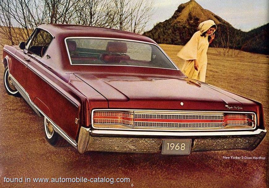 Chrysler New Yorker 2 Door Hardtop 440 Tnt V 8 Torqueflite 1968 Classic Cars Vintage Photo Classic Cars