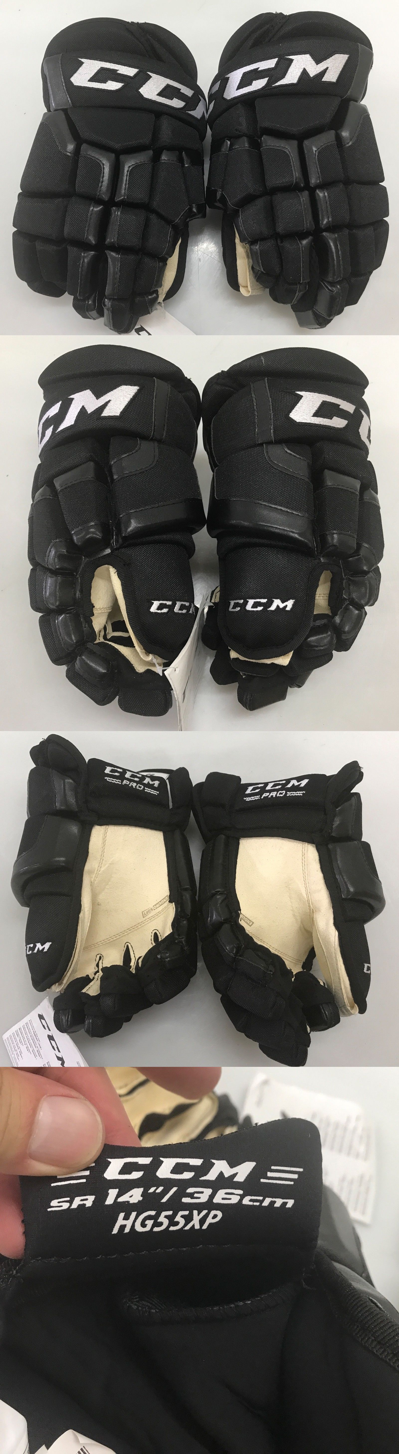 4171d709c14 Clothing and Protective Gear 20855  Ccm Hg55 Xp Pro Stock Hockey Gloves 14  La Kings 6778 -  BUY IT NOW ONLY   100 on eBay!