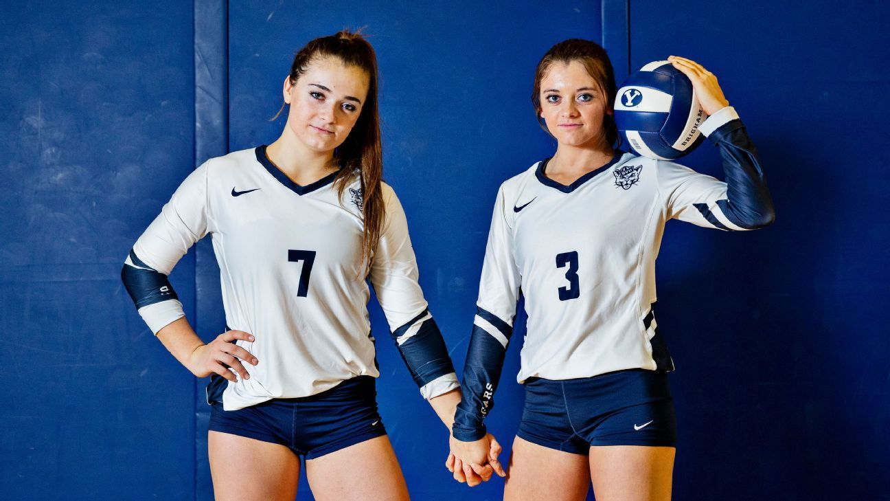 Bower Sisters Destined To Be Part Of Byu S Volleyball Run In 2020 Volleyball Jerseys Volleyball Women Volleyball