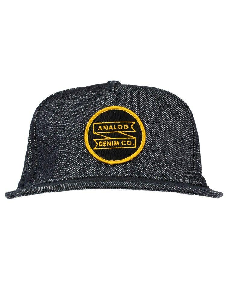 a6694a6ef23c8c Analog Clothing ADC Snapback Hat - Indigo Raw Denim $25.00 #analog #adc