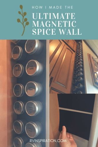 How I made a (removable!) magnetic spice storage wall