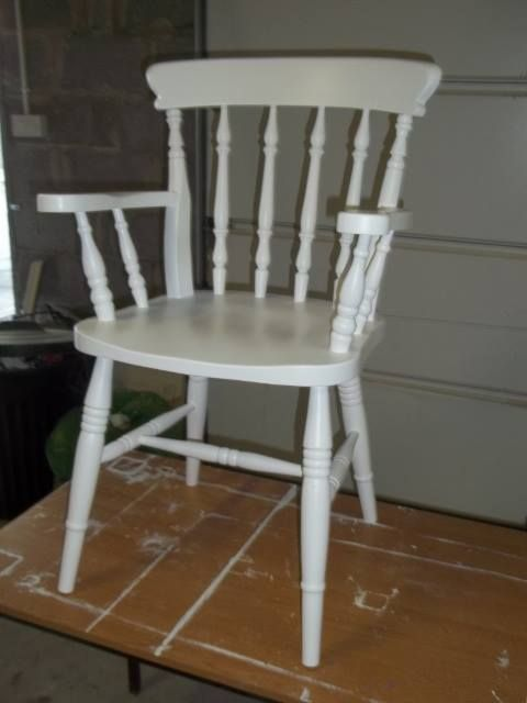 White Carver Chair, Donegal Contract. One further coat tomorrow