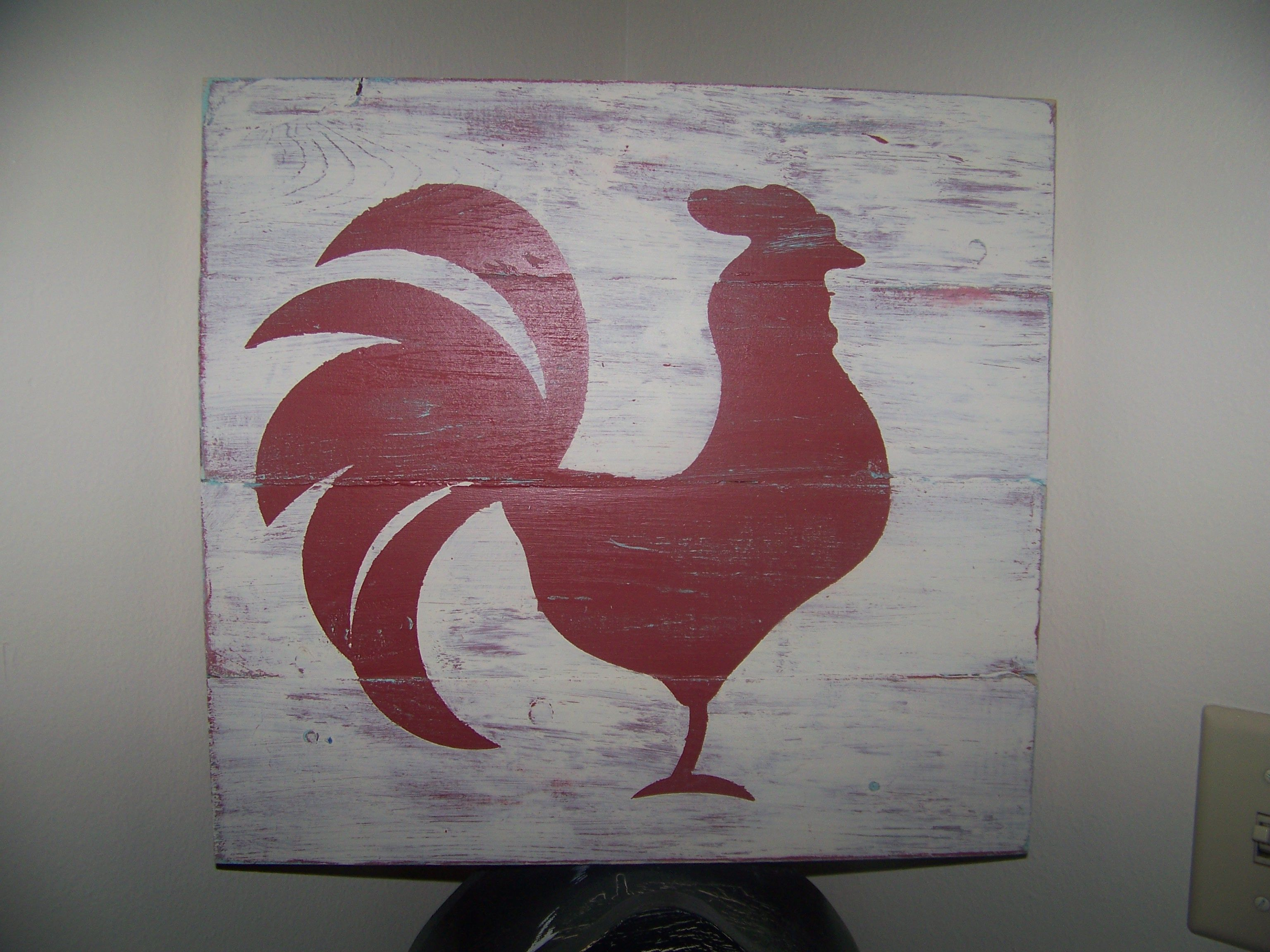 Kitchen Rooster Rooster Kitchen Rooster Decor Rooster Painting