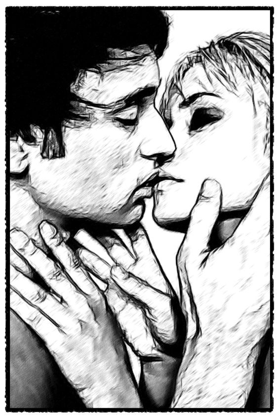 A Kiss A Day Keeps The Blues Away A Digital Doodle Art Work By