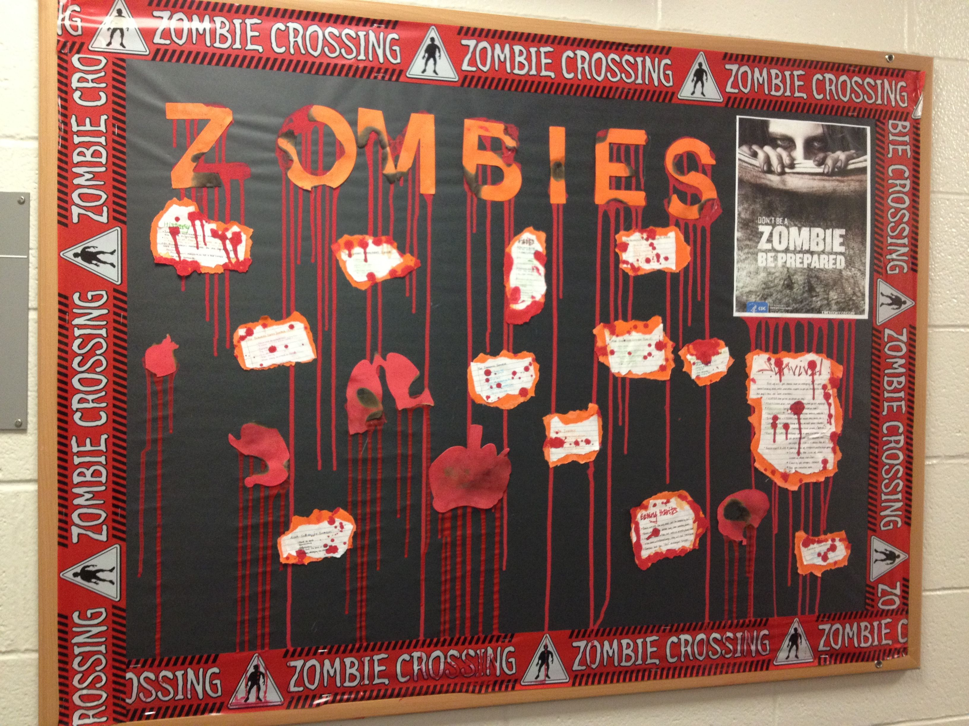 Survival Skills Board Halloween/Zombie Themed!