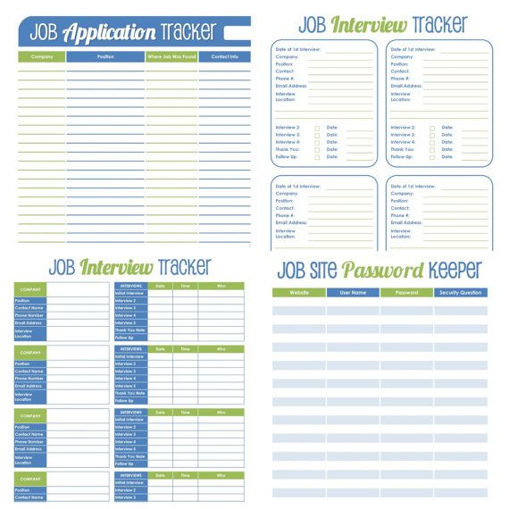 Job Search Organizer - EDITABLE Printables - INSTANT DOWNLOAD - fresh 6 simple statement of work template