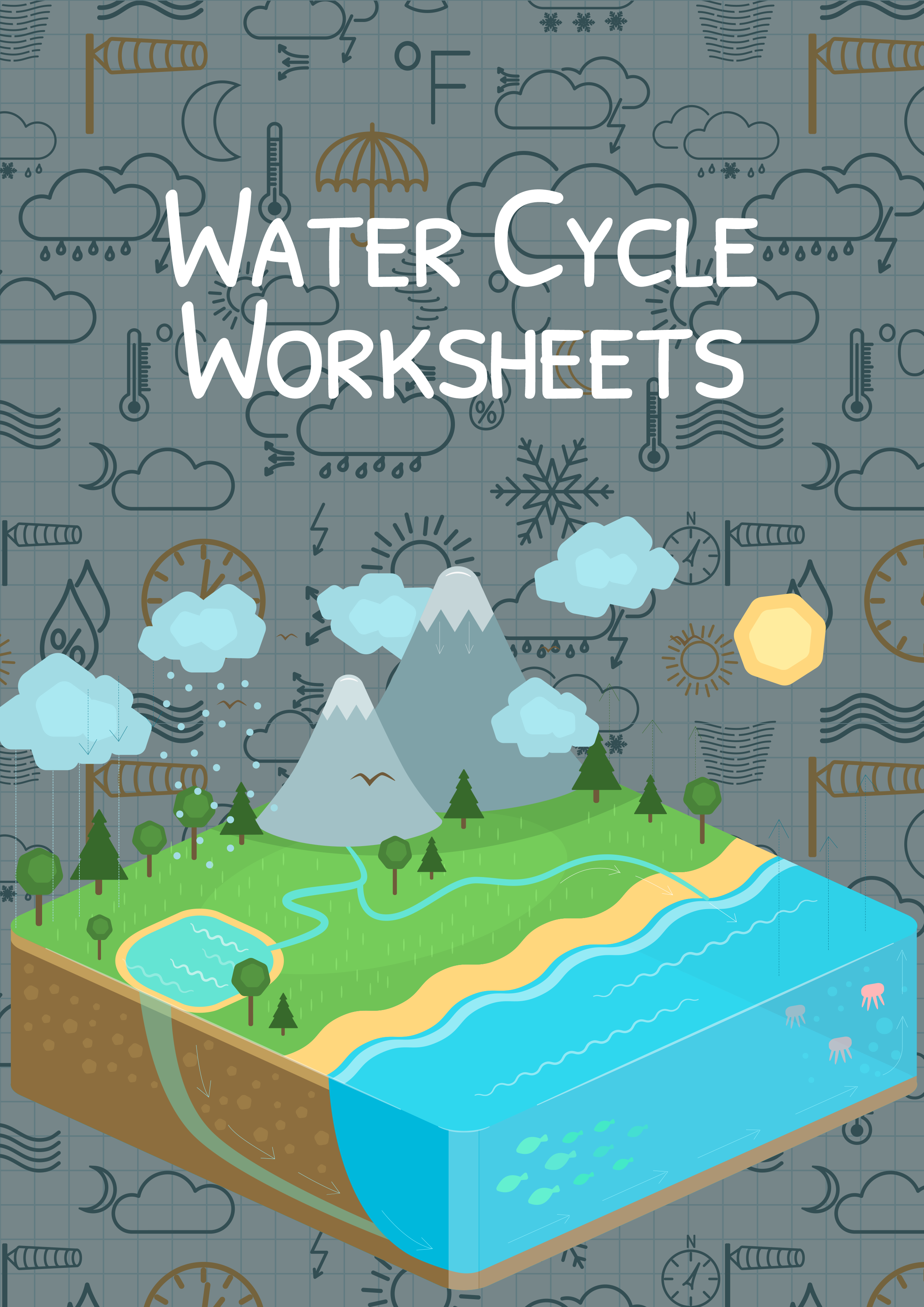 The Water Cycle Worksheet for Kids | Water Cycle Summary | Health ...