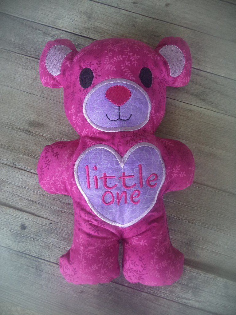 Pink and Purple Little One Teddy Bear Stuffie | BDSM Stuffies ...