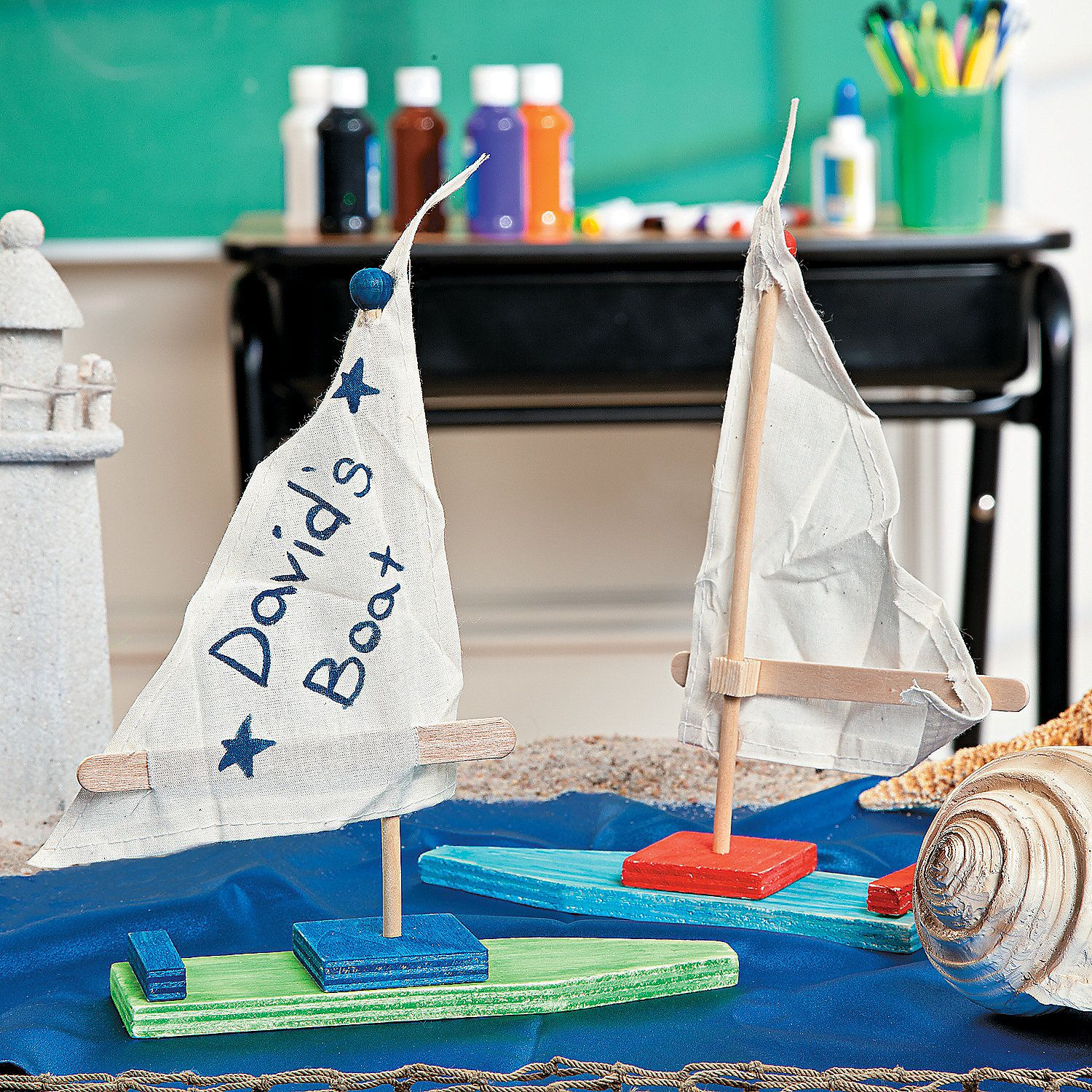 Kids Craft Project Ideas Part - 47: DIY Sailboat Project Idea | Set Sail For Summer Fun With This Easy Craft  For Kids
