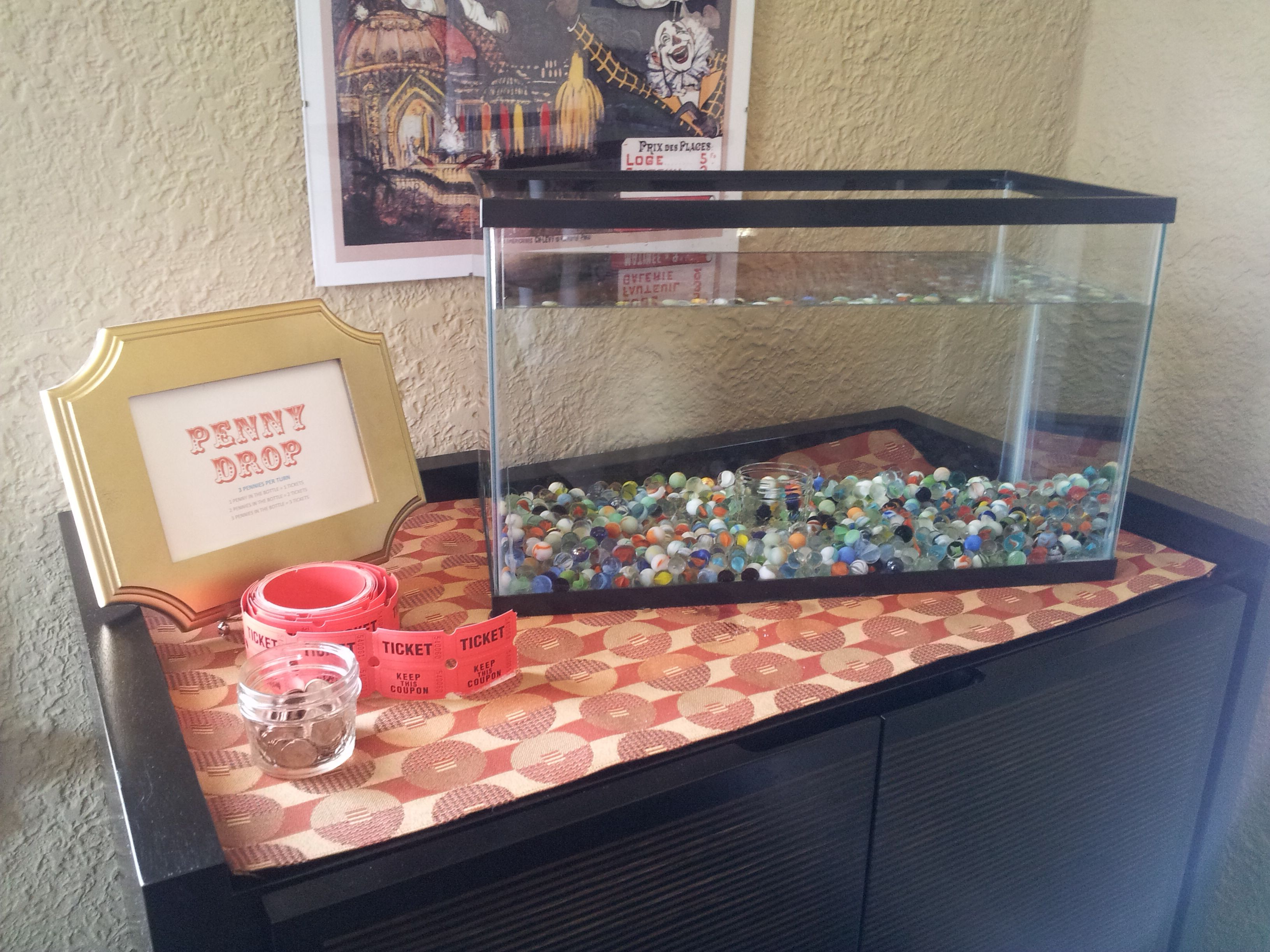 Penny drop game fall festival pinterest drop gaming for Fish tank game
