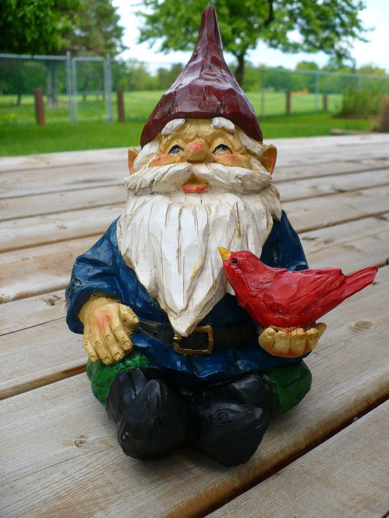 Fairy lawn ornaments - Garden Gnome Key Hider Lawn Ornament Blue Jacket