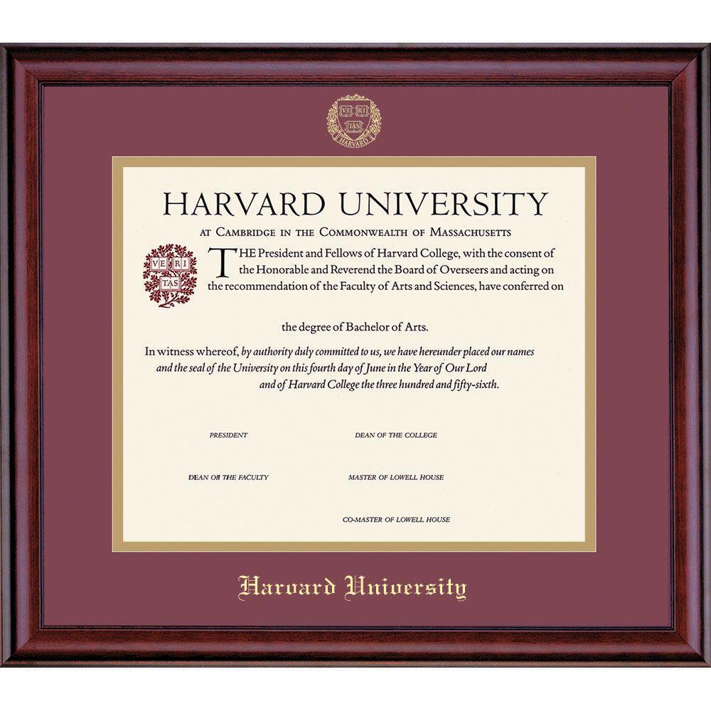 Harvard+University+Certificate frame Niesha M. Gonzales