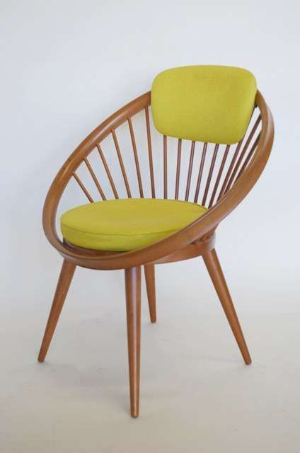 Granger Hertzog Period Italian Wood And Lime Green Occasional Chair