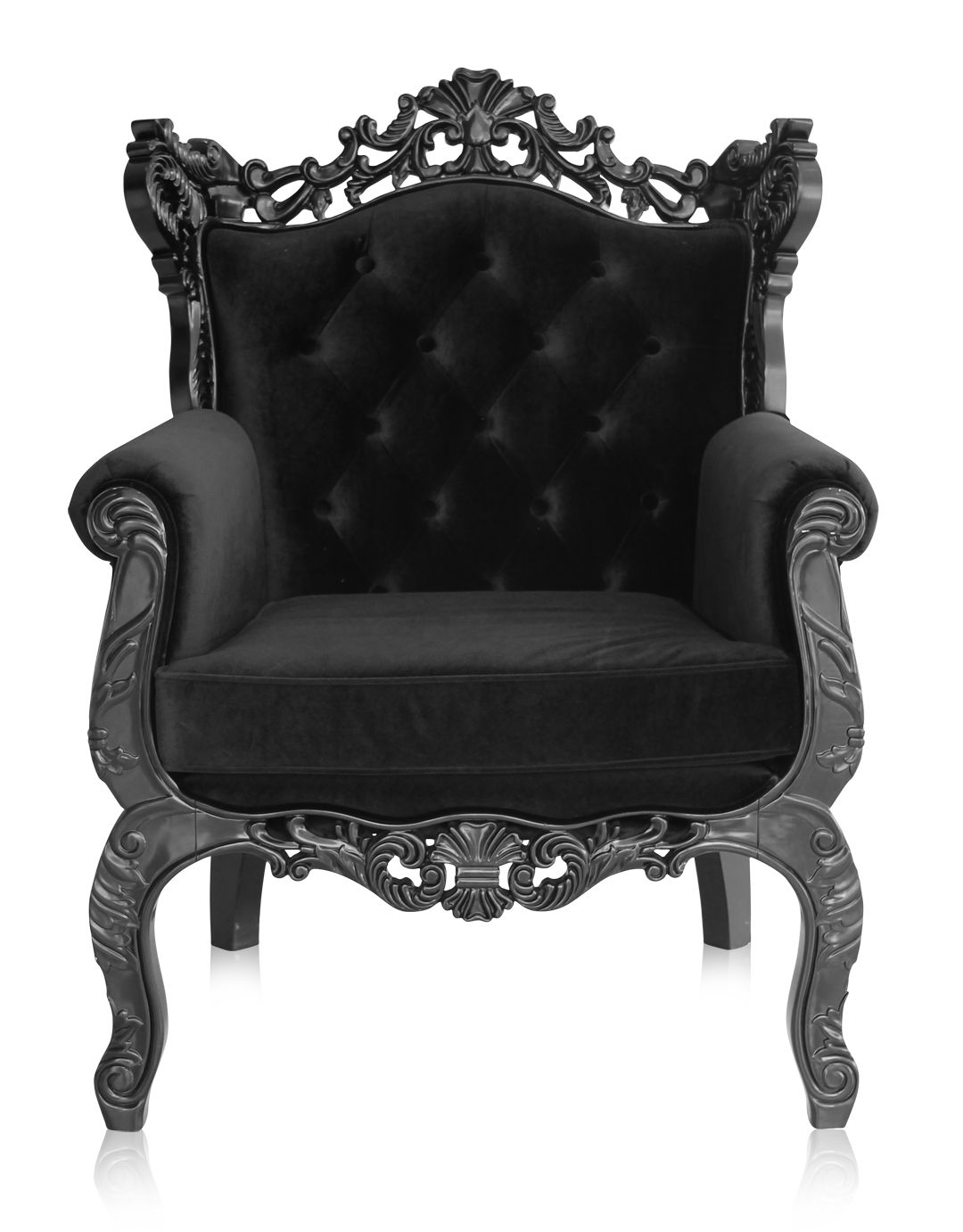 Royal Armchair Black: Relax On Your Very Own Throne With This Modern,  Baroque Inspired Piece.