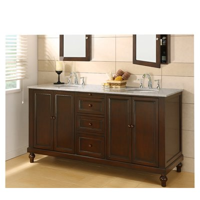 Darby Home Co Elmirasol 70 Double Bathroom Vanity Set Brown
