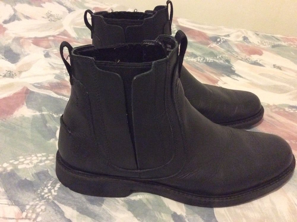 Timberland men shoes  10M 78535 genuine leather and manmade upper black #Timberland #Upper