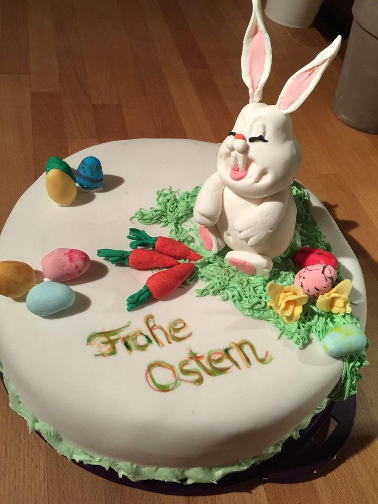 Ostern Torte Aus Fondant Mit Bildern Ostern Backen Ostern Kuchen Backen