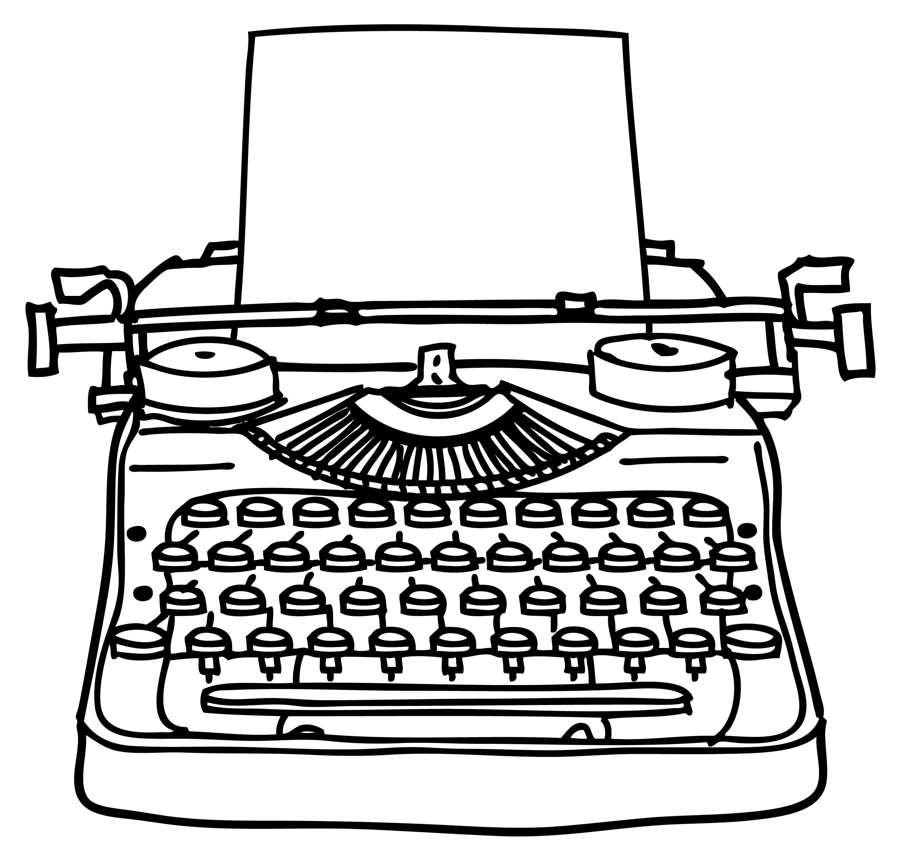 old typewriter clip art google search typewriter keys rh pinterest com typewriter clipart black and white typewriter image clipart