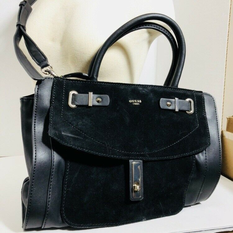 Guess Leather Satchel Handbag Purse Shoulder Bag Tote