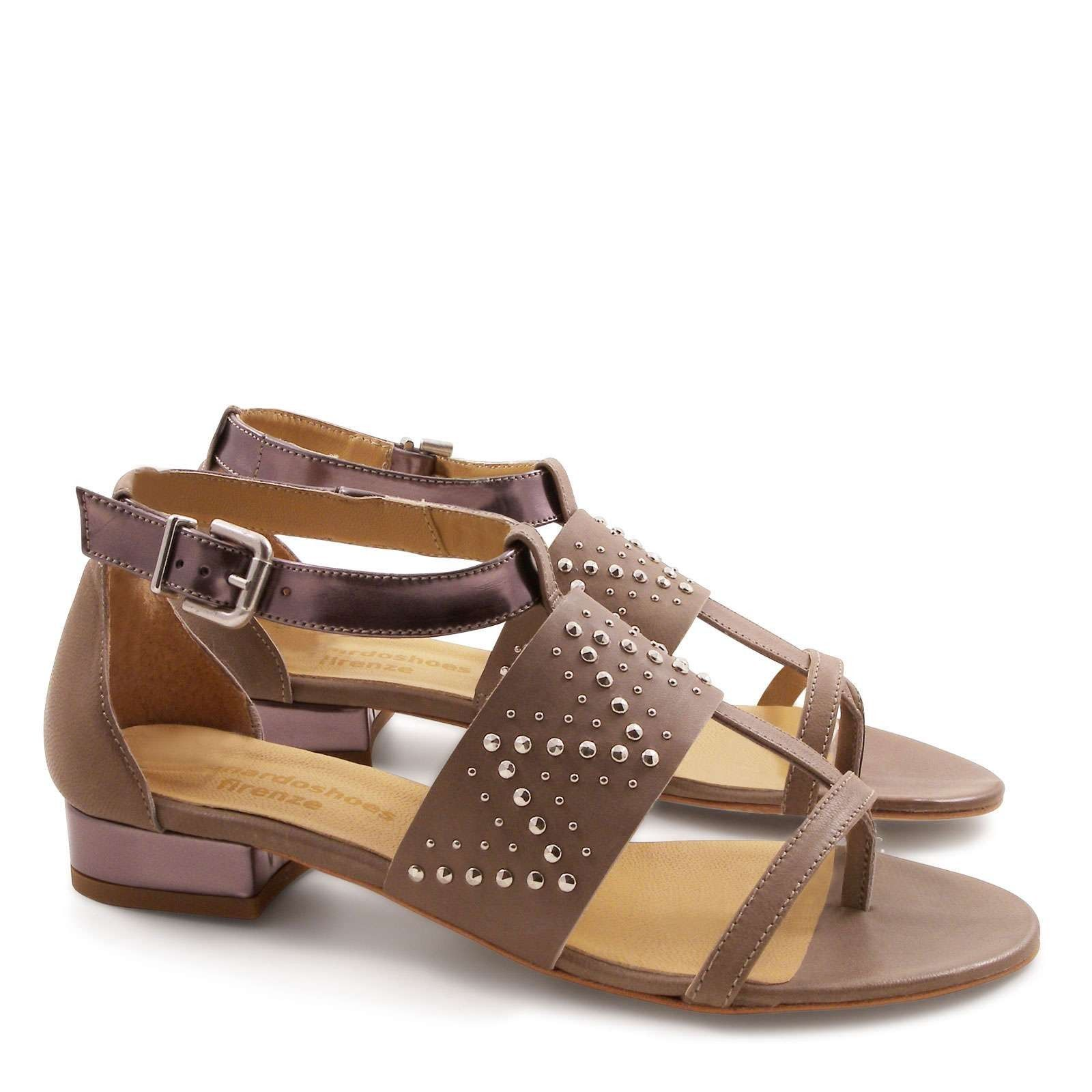Strappy low heels sandals in mink leather | Mink, Leather and Italian