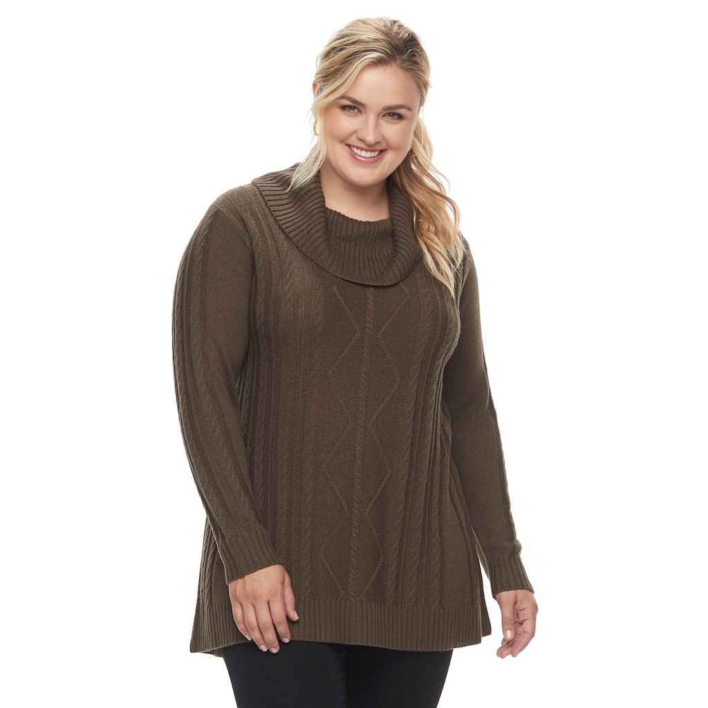 Napa Valley Plus Size Napa Valley Cowlneck Tunic Sweater | Tunic ...