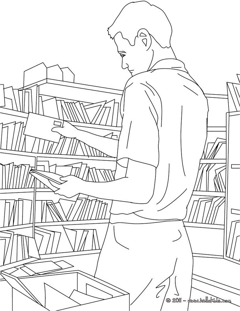 going green coloring pages   Go green and color online this Postman sorts mails in the ...