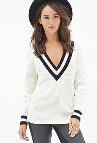 Deep V-Neck Sweater | FOREVER21 - 2052289013 | sweater weather ...