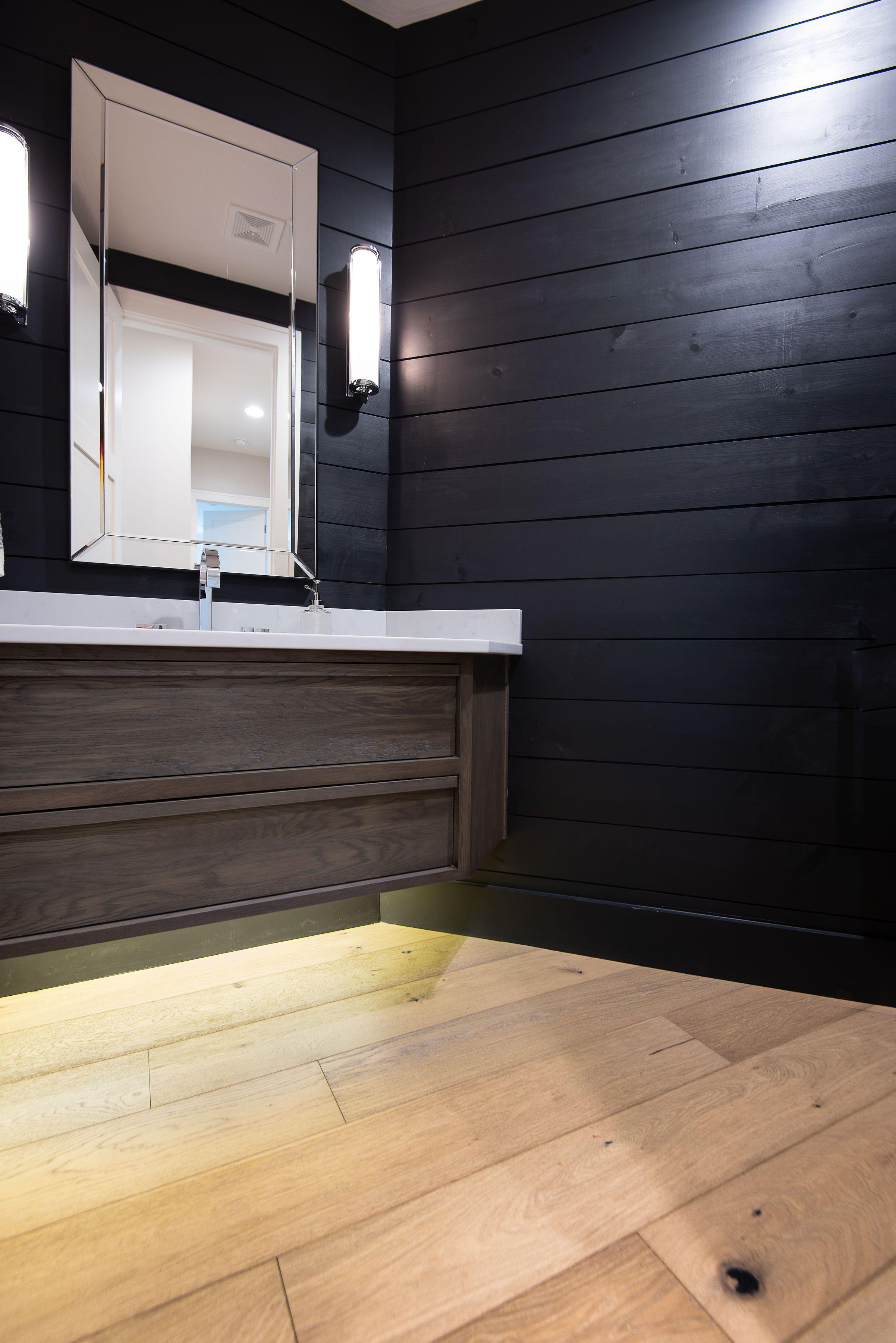 hardwoodinbathroom engineeredhardwood floatingvanity