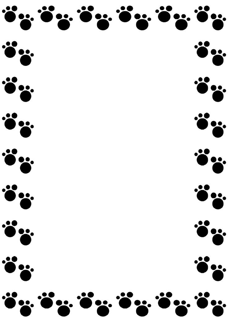 dog paw gallery for clip art dog borders image everything cricut rh pinterest com au