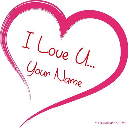 Create BF Or GF Name I Love U Profile Image. Beautiful