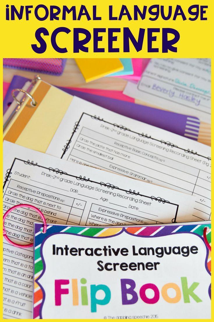 Articulation & Language Screener For Elementary BUNDLE | Speech ...