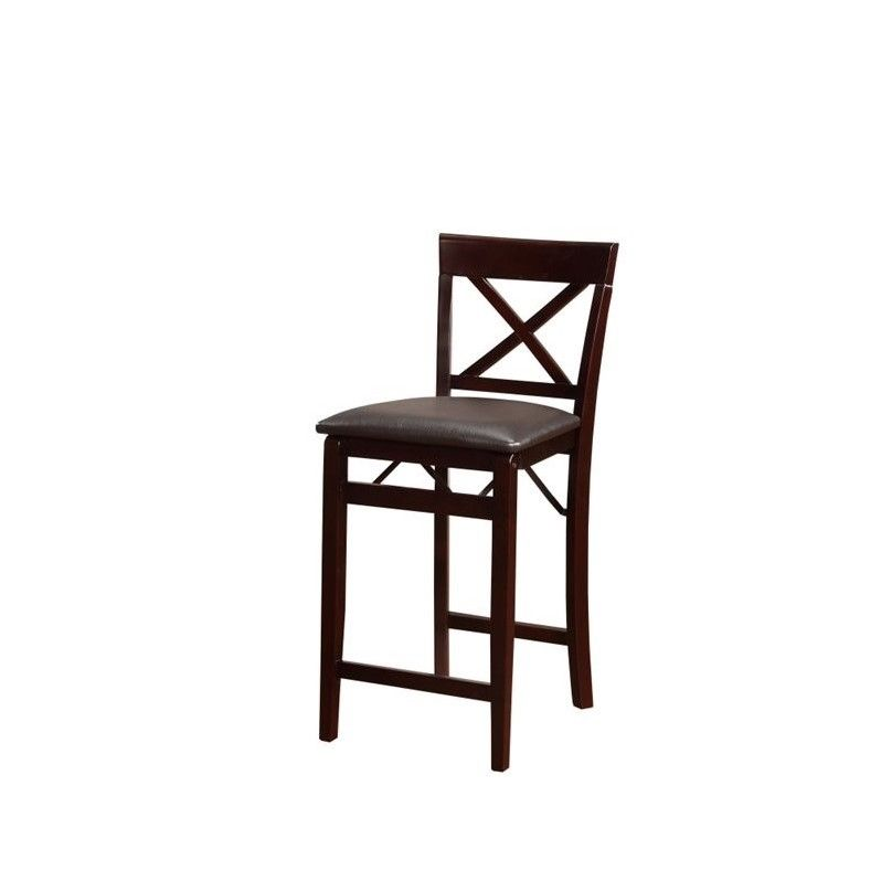 Linon Triena Wood X Back Folding 24 Quot Counter Stool In
