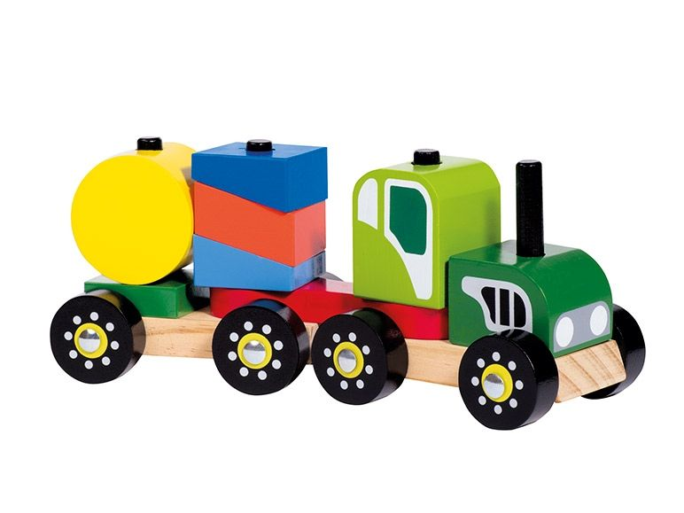 Playtive Junior Wooden Stacking Train Thursday 17 11 Lidl Uk Wooden Toy Car Toys Wooden Toys