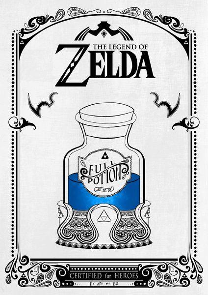 Zelda legend - Blue potion Art Print