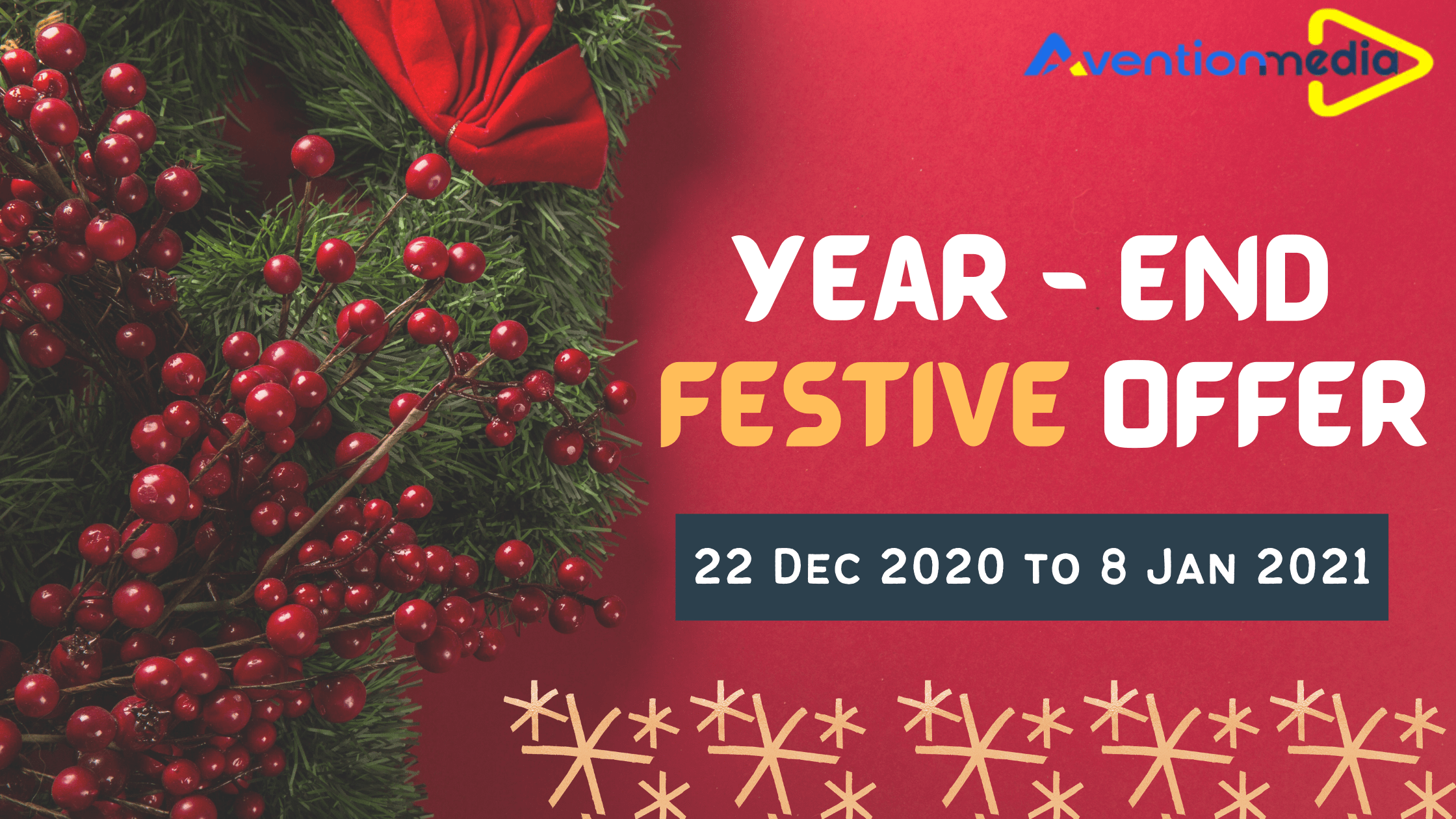 Christmas Ornaments 2021 Series End Avention Media Unveils Exclusive Year End Offer To Kick Start 2021 Years Holiday Season Offer