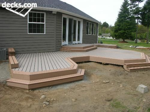 Low elevation deck picture gallery for the home for Low elevation deck plans