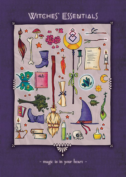 Witches Essentials Magic is in your Heart Print Postcard